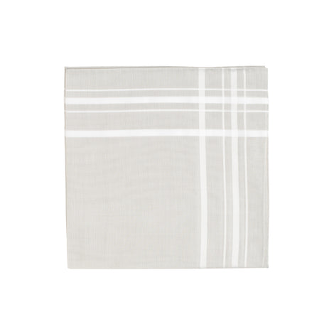 Grey White border Handkerchief - Emmett London - Jermyn Street & Kings Road Shirtmakers
