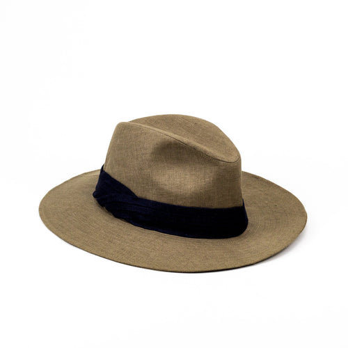 Brown Linen Hat