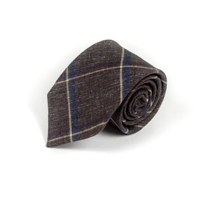Courtroom Brown Tie - Emmett London - Jermyn Street & Kings Road Shirtmakers