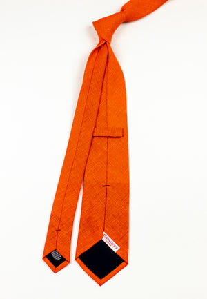Solar Flare Orange Tie - Emmett London - Jermyn Street & Kings Road Shirtmakers