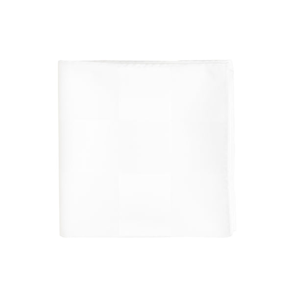 White Thick Stripe Handkerchief