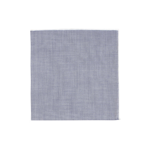 Chambray White Piping Handkerchief