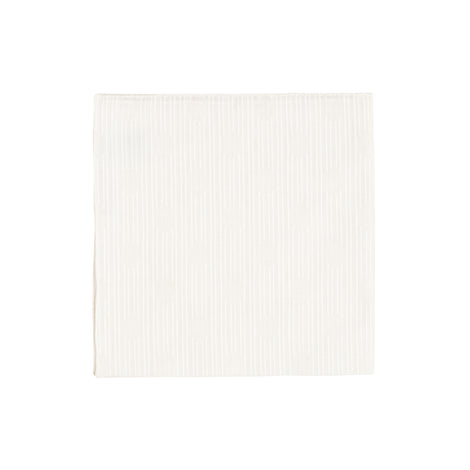 White Stripe Oval Handkerchief - Emmett London - Jermyn Street & Kings Road Shirtmakers