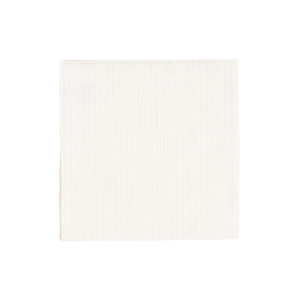 White Stripe Oval Handkerchief
