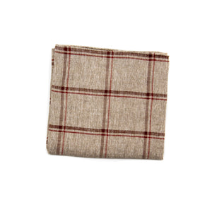 Cassidy Beige Pocket Square - Emmett London - Jermyn Street & Kings Road Shirtmakers