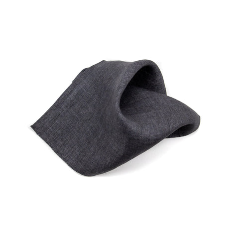 Whisper of Shadow Charcoal Pocket Square - Emmett London - Jermyn Street & Kings Road Shirtmakers