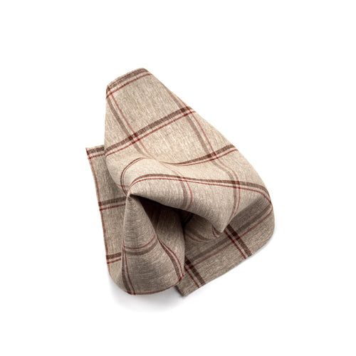 Cassidy Beige Pocket Square