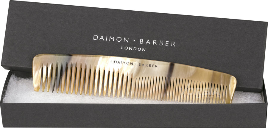Daimon Barber Double Tooth Horn Comb