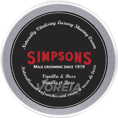 Simpsons - Shaving Cream 125ml -Van&Rose