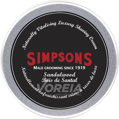Simpsons - Shaving Cream 125ml -Sandalwd
