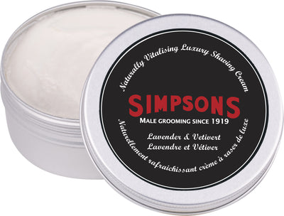 Simpsons - Shaving Cream 125ml -Lav&Veti
