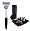 eShave Razor Travel Nickel & Black Finish - Fusion System