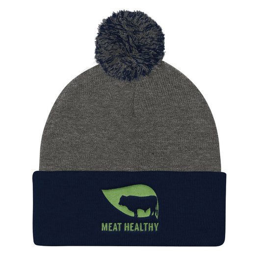 Meat Healthy Pom Pom Knit Cap