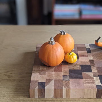 Pumpkins on Cutting board