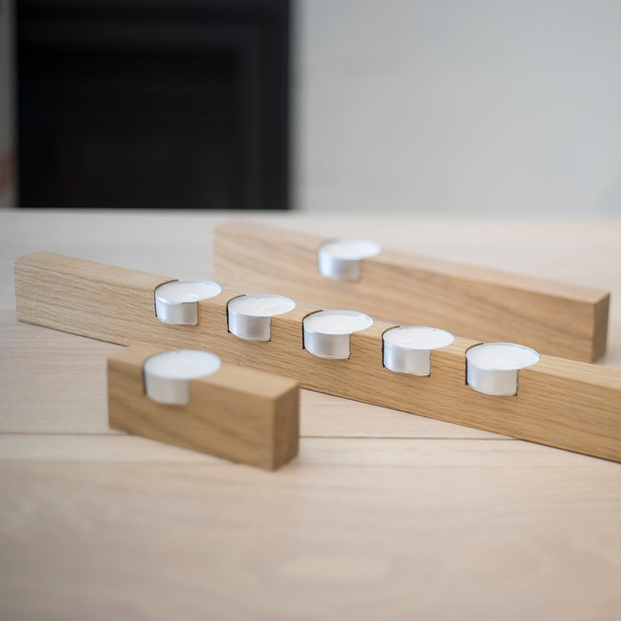 Offset Tealights | Rekindle | White Oak