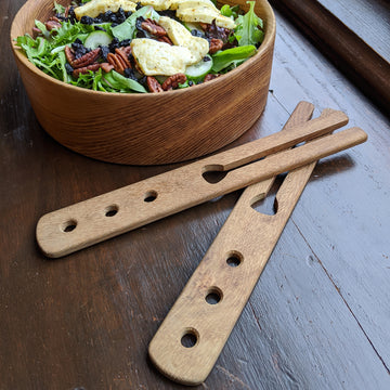 Solid White Oak Salad Server