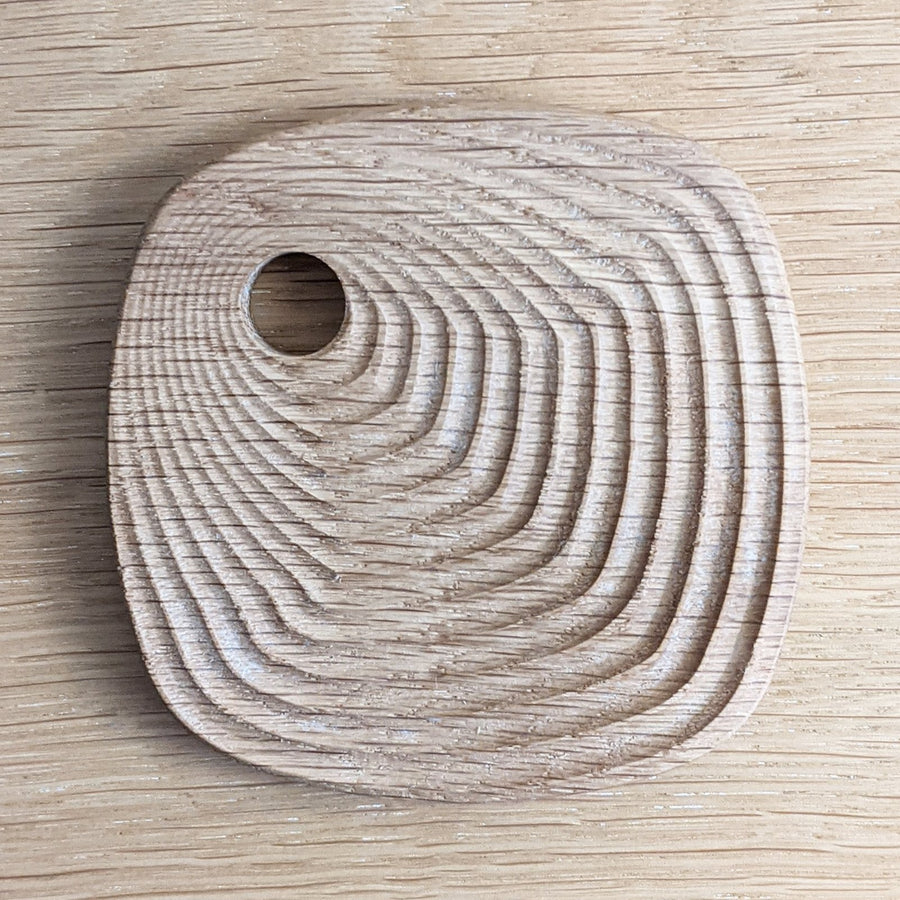 Single White Oak Coaster