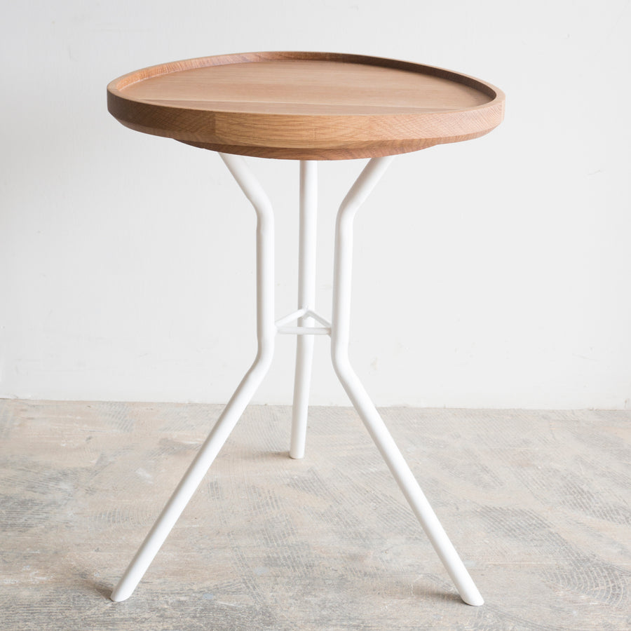 Side table with removable tray
