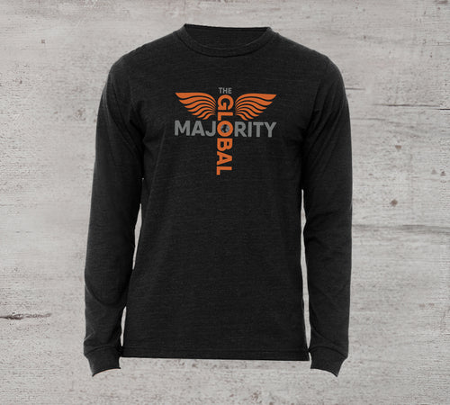 GM Long-Sleeve Logo T in Charcoal