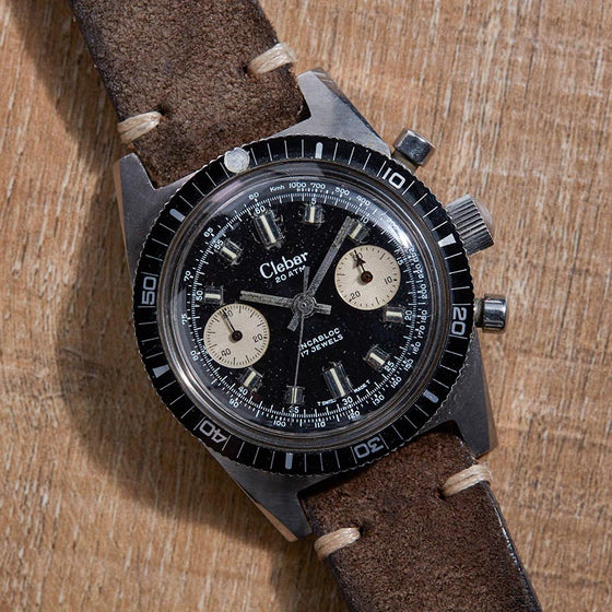 clebar chronodiver chronograph vintage watch