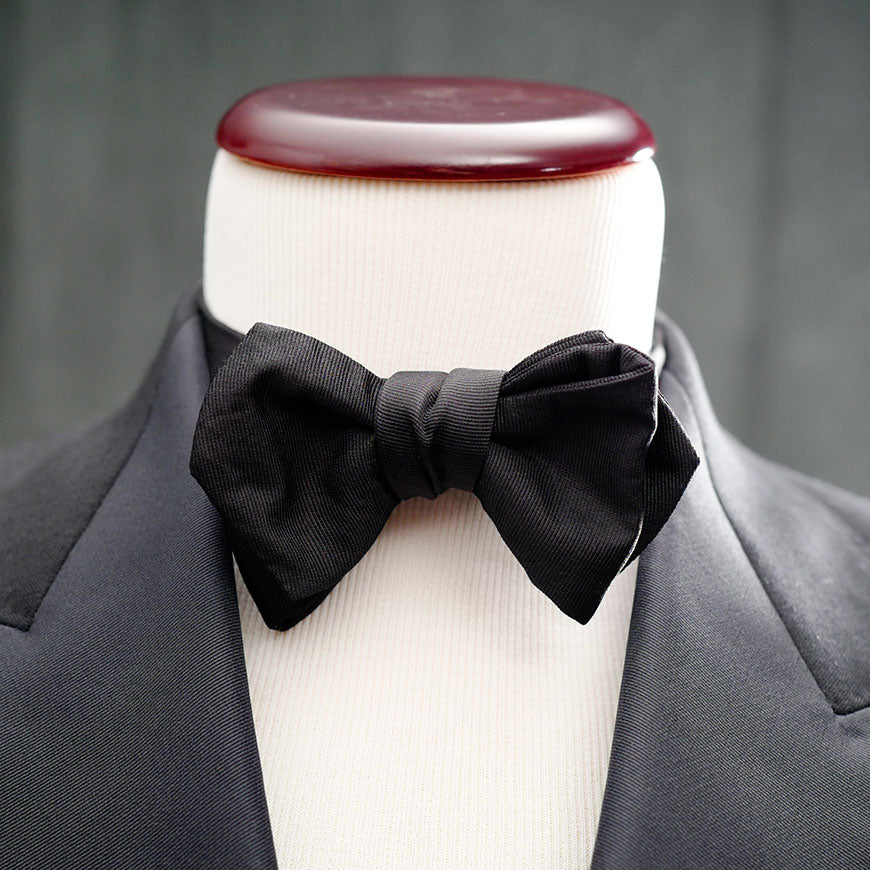 best formal bow tie tuxedo diamond point satin grosgrain le noeud papillon