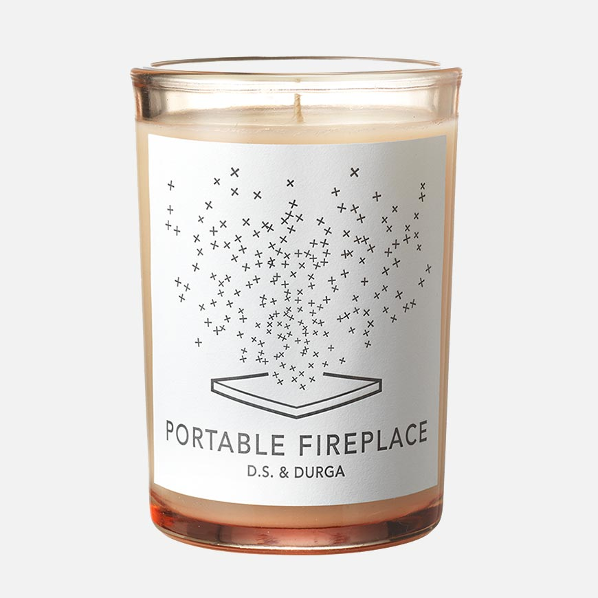 ds durga portable fireplace candle