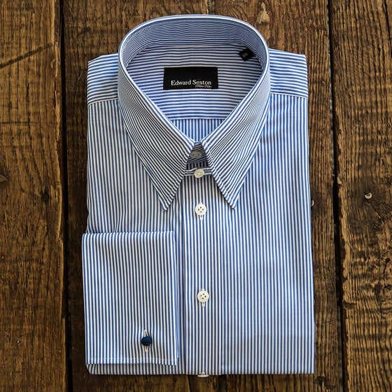 tab collar shirt slim fit bengal stripe