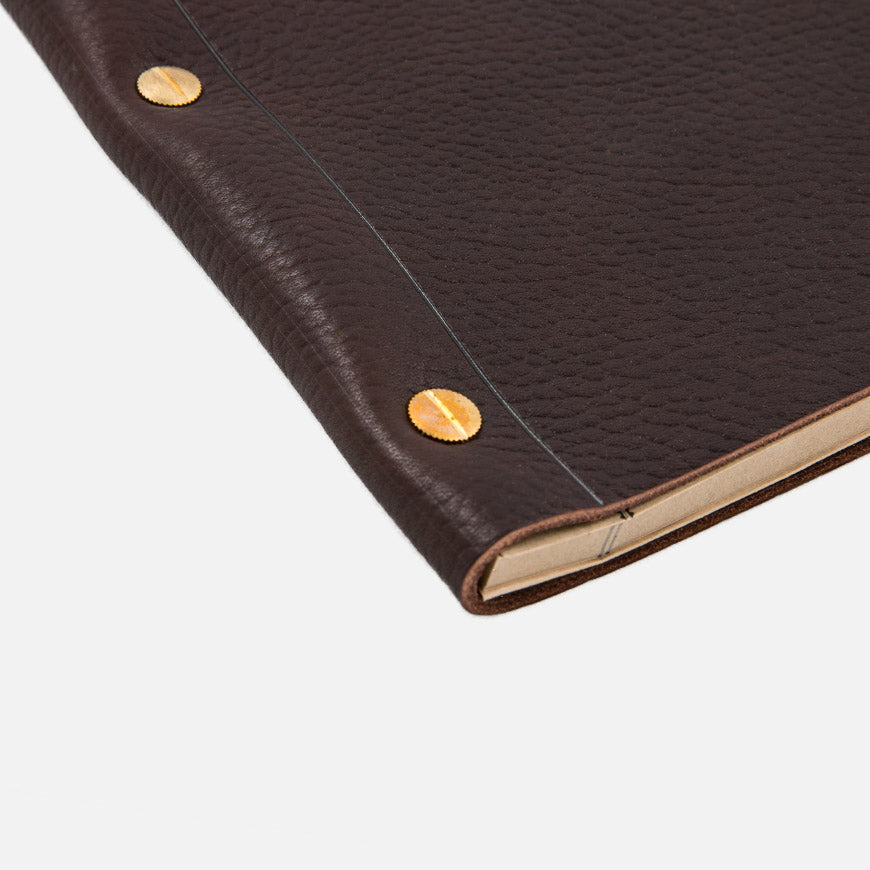 la compagnie du kraft leather notebook