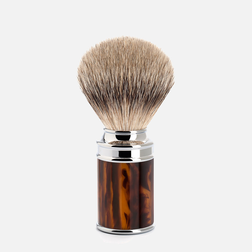 muhle tortoise shaving brush silvertip badger