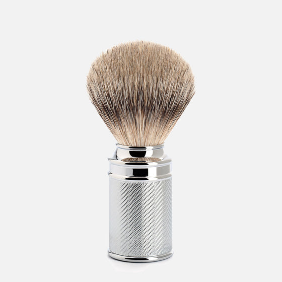 muhle chrome shaving brush silvertip badger