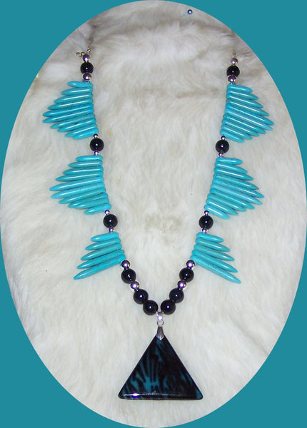 7201 TURQUOISE MAGNESITE NECKLACE WESTERN Item 7201