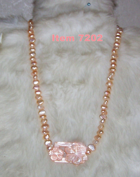 7202 GIRLS FRESHWATER PEARL DANGLE NECKLACE - ITEM # 7202