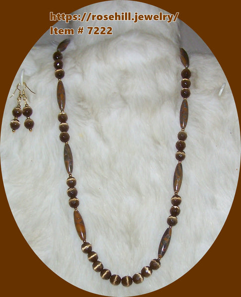 7222 TIGERS EYE & TIGER STRIPE HANDMADE ITEM # 7222