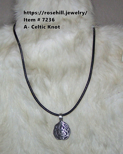 7236 MEN'S LEATHER CORD NECKLACE ITEM # 7236  4 AVAILABLE