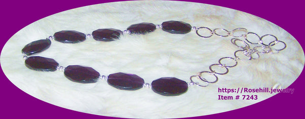 7243 PURPLE AMETHYST FACETED GEMSTONE HANDMADE NECKLACE  ITEM # 7243
