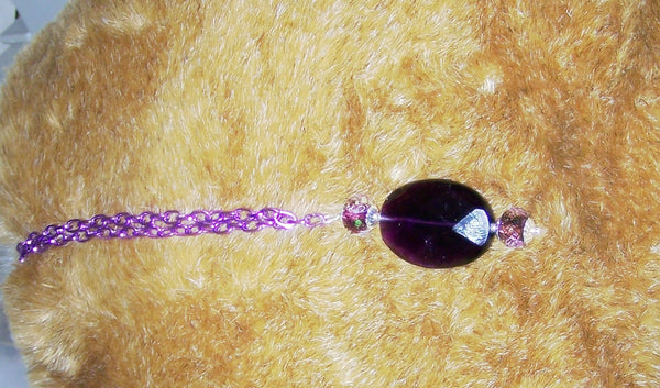 7253 GIRL'S / TOY NECKLACE PURPLE CHAIN  AMETHYST GEMSTONE PURPLE NECKLACE  ITEM # 7253