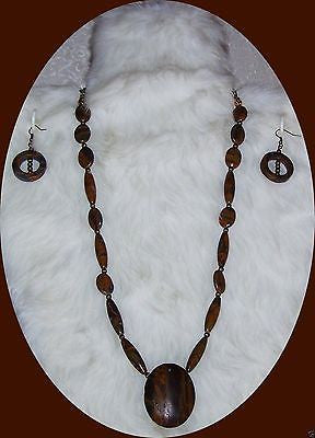 4826 CHRYSANTHEMUM STONE JASPER NECKLACE & EARRING JEWELRY SET ITEM # 4826