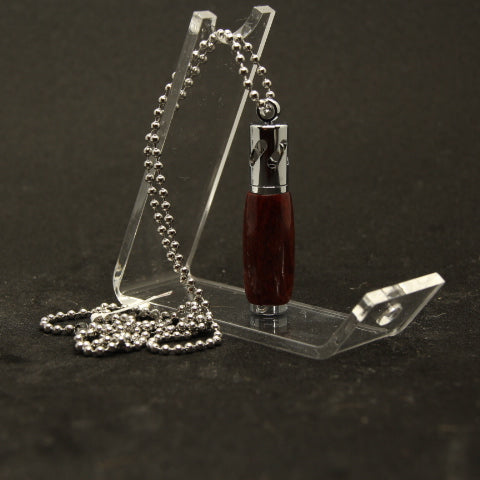 AN-D Aromatherapy Necklace Padauk With Chrome Trim