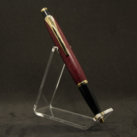 CO35 - Compson Purpleheart Pen With Gold Trim (was $32 - now $25)