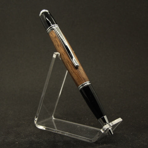 G-EI Gatsby Walnut Twist Pen With Chrome Trim