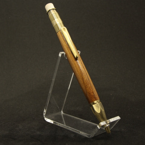 MP-BF 2mm Teak Mechanical Pencil With Antique Brass Trim