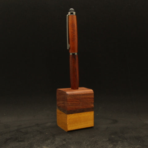 Bubinga, Walnut and Osage Orange Single Pen Stand