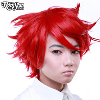 Short Boy Cut True Red Wig