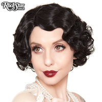 Flapper Finger Wave Black Wig