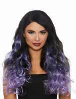 Purple Ombre Curly Extensions