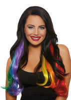 Wavy Rainbow Hair Extensions