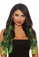 Curly Green Ombre Extensions