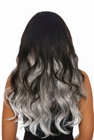 Gray Ombre Wavy Extensions