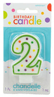 2 Polka Dots Birthday Candle