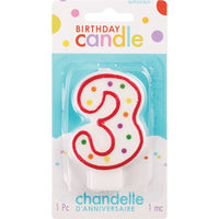 3 Polka Dots Birthday Candle